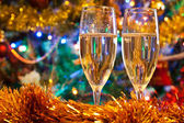 Fotografie Two christmas champagne glasses