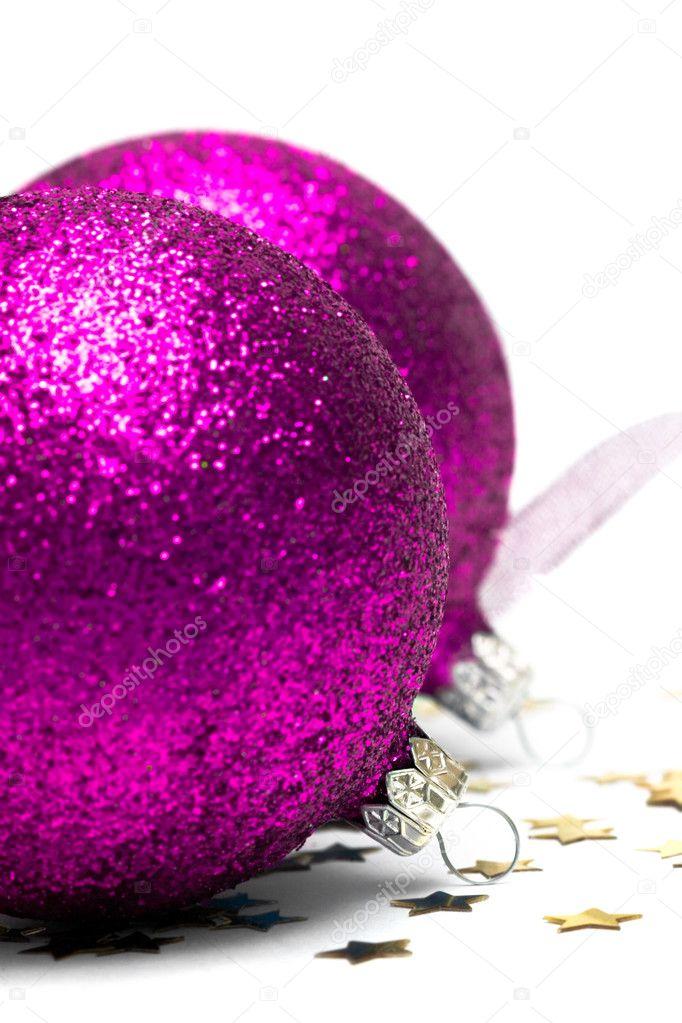 Pink Christmas decoration balls