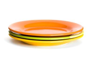 Orange and green plates