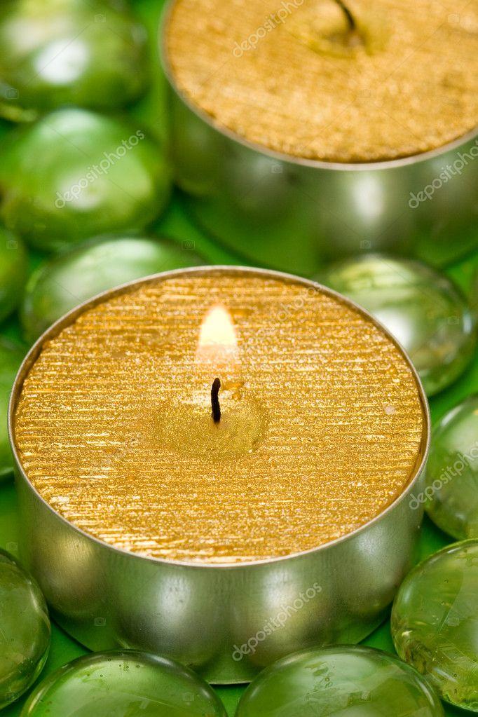 Golden candles