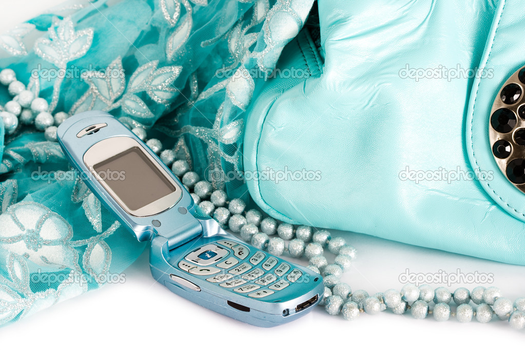 Scarf and mobile phone