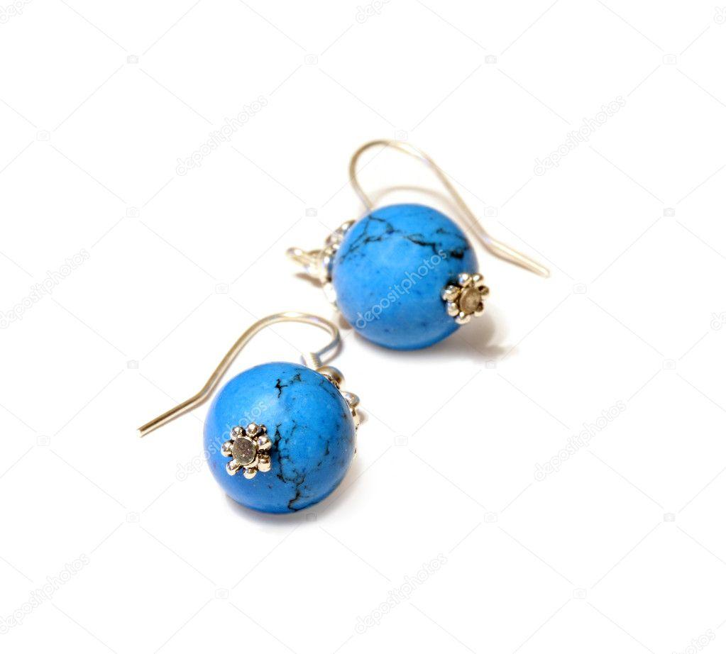 d3a8cbd0e1a5 pendientes azules — Foto de stock © blackan  1428954