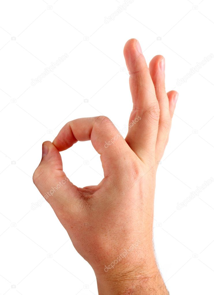 Hand Sign Ok Stock Photo Blackan 1429391