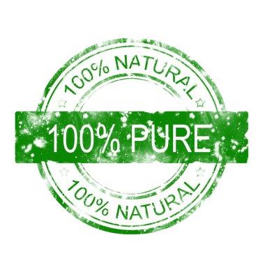 100% pure stamp