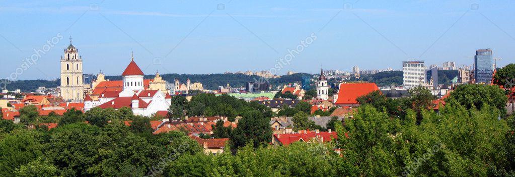 Panorama of Vilnius, Lithuania