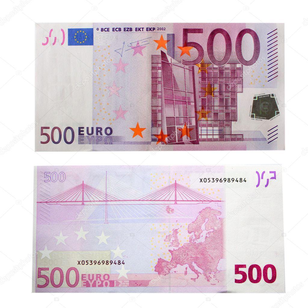 Bankbiljet van 500 euro stockfoto blackan 1462011 for Ecksofa 500 euro