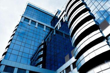 Blue abstract diagonal angle