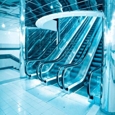 Futuristic escalator