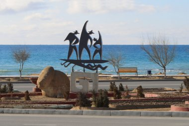 Sculpture by the sea.