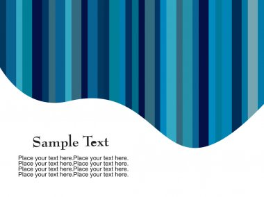 Blue stripes with curve place text
