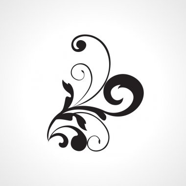Vector beautiful design black tattoo