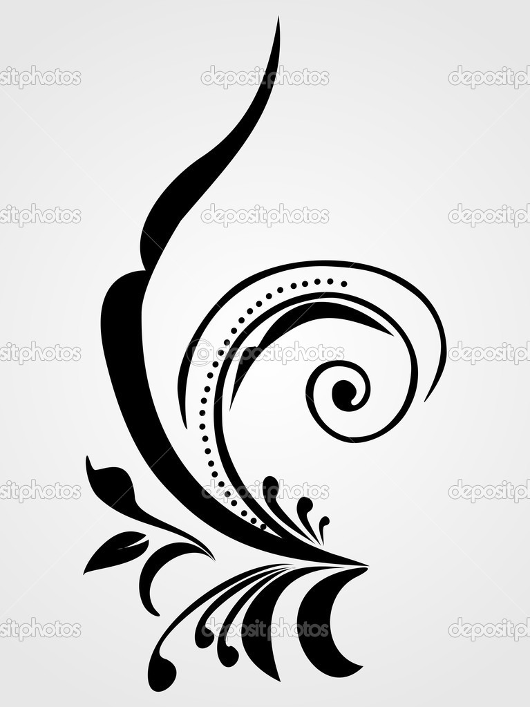 Interior Beautiful Design vector beautiful design black tattoo stock background with abstract element floral tatoo by alliesinteract