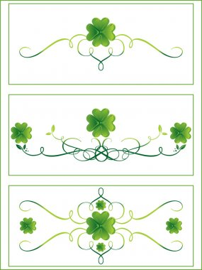 Accent shamrock with curve design