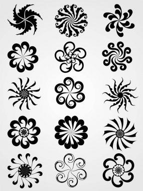 Vector element florish design graphic tattoos clip art vector