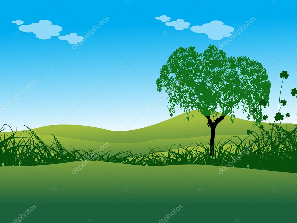 Vector illustration of nature wallpaper