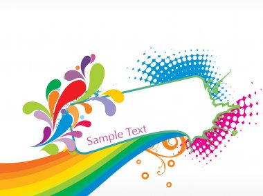 Abstract funky vector background