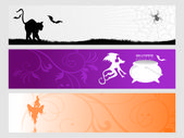 Abstract halloween banner series set24