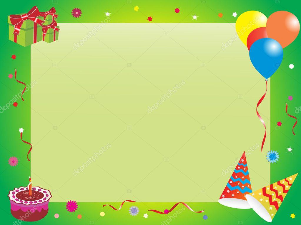 marco de cumpleaños abstracto, Ilustración — Archivo Imágenes ...