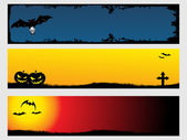 Abstract halloween banner series set3