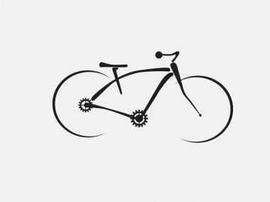 Illustration of a modern mountain bike