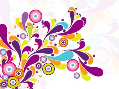 Colorful artwork on seamless background