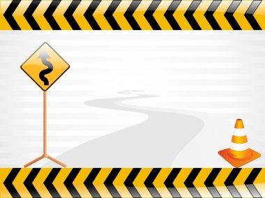 Vector road sign illustration