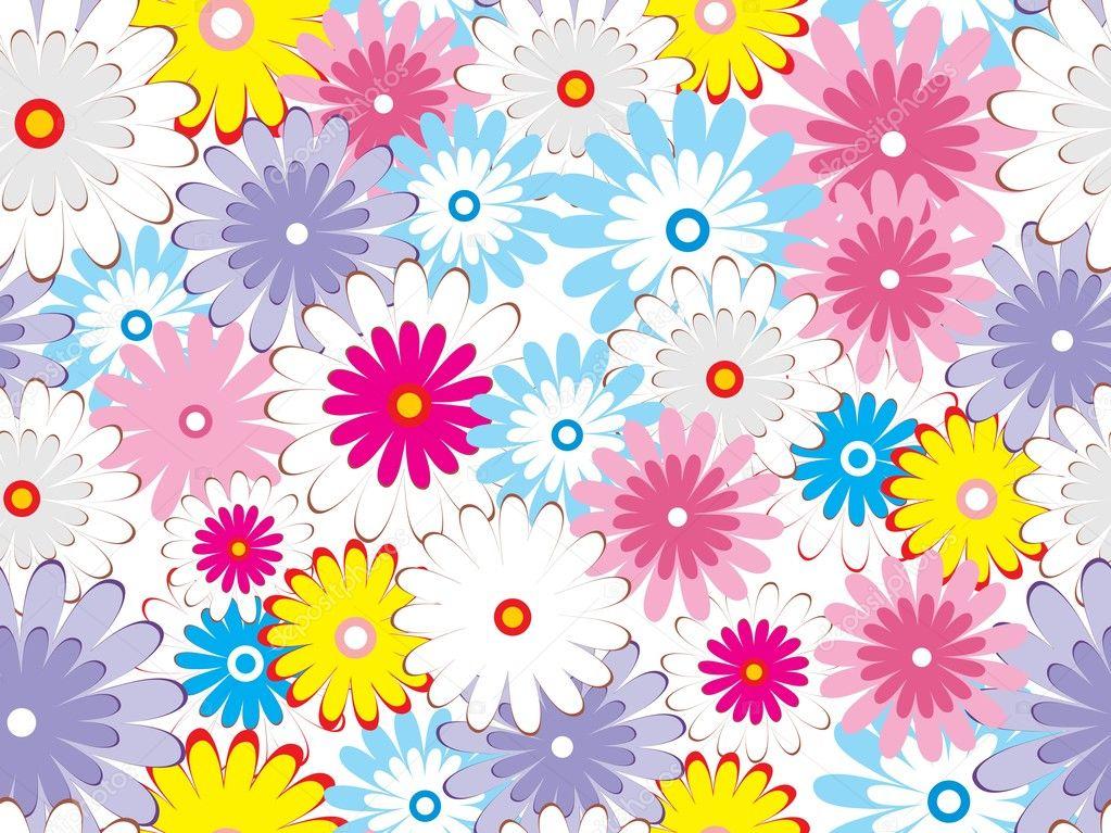 Papel de parede flores coloridas vetor de stock for Papel de pared paisajes