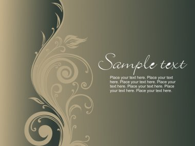 Artistic design with olive green background, vector illustration stock vector