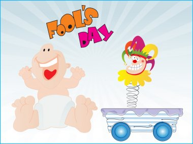 Illustration for fools day