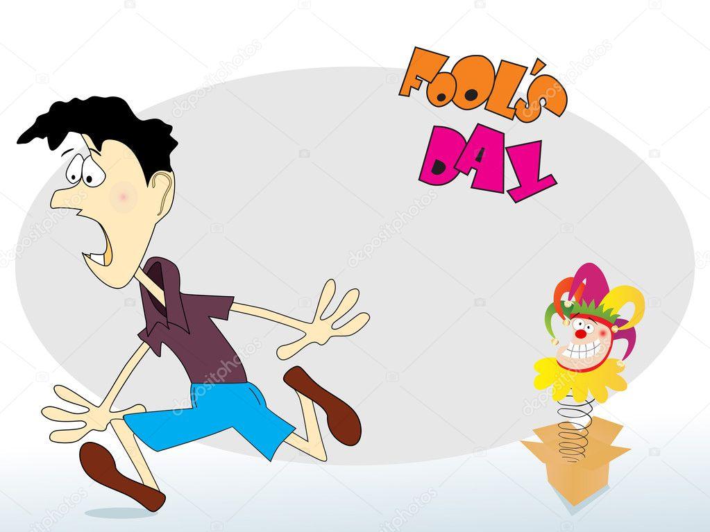 Abstract funny cartoon illustration