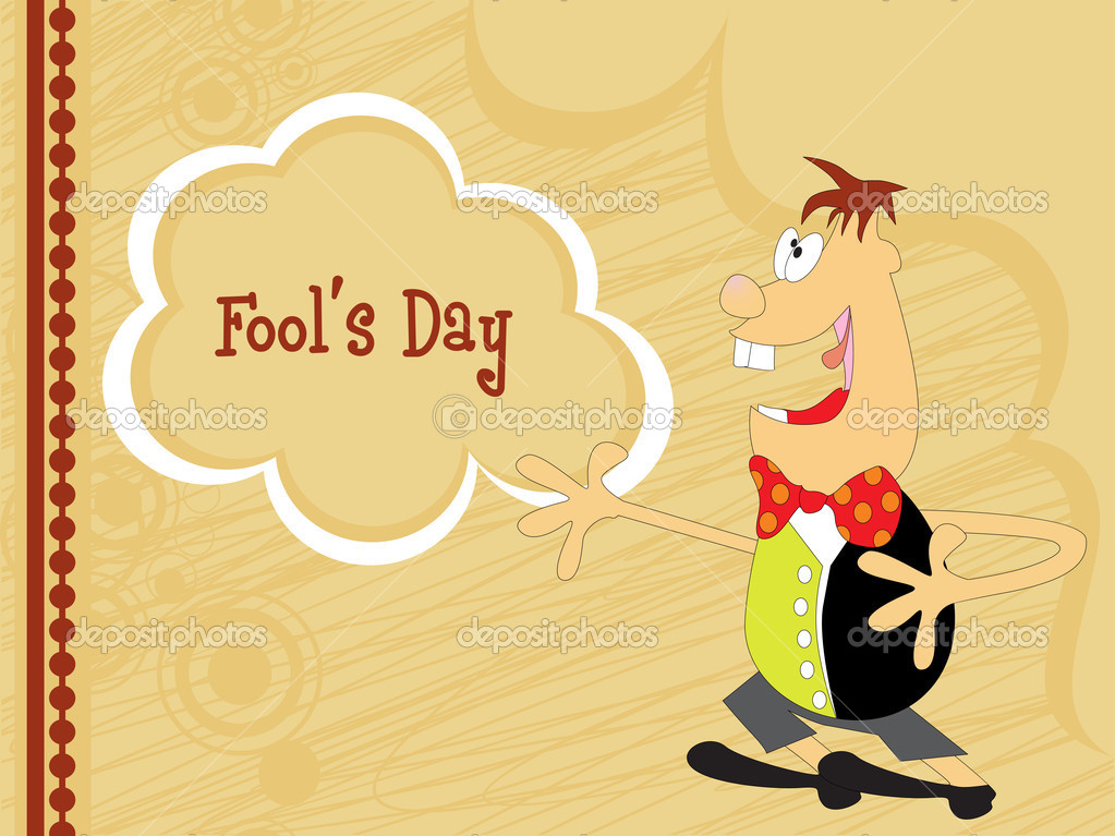 Funky pattern fools day background