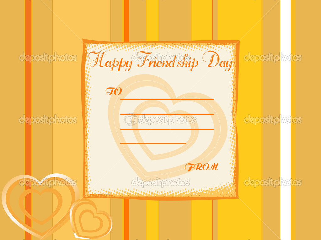 Beautiful friendship day greeting