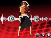 Nő a háttérben zene tánc