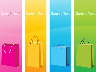 Colorful shopping bags, vector design20