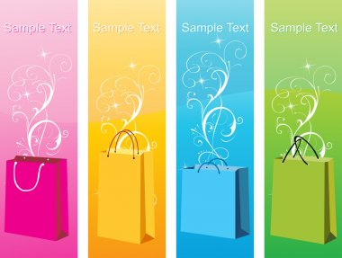 Colorful shopping bags, vector design24