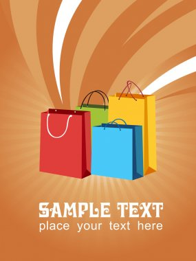 Vector of shopping bags