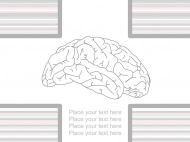 Background with brain