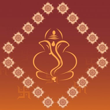 Background with ganpati, swastika