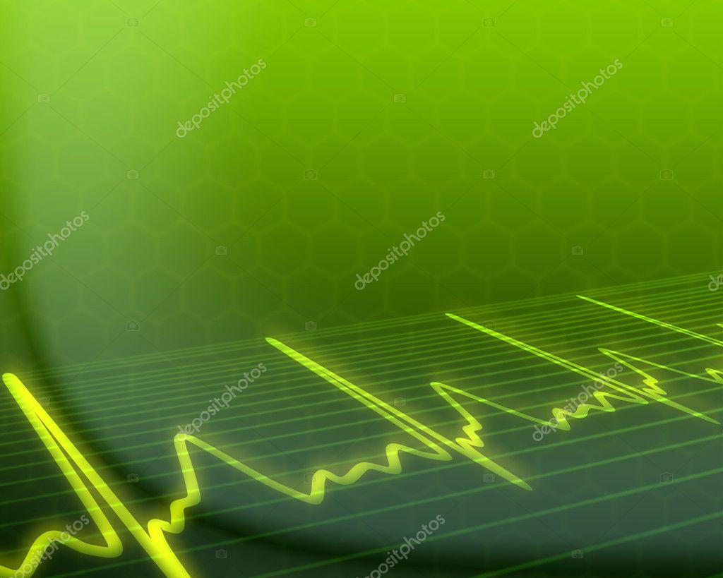 Electronic cardiogram on background