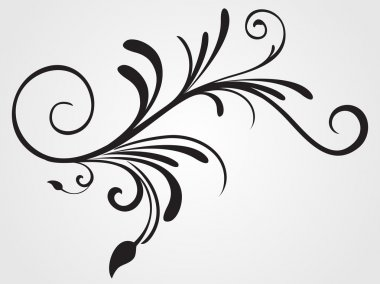 Background with flourish design tattoo