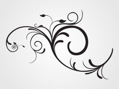 Illustration of floral pattern tattoo