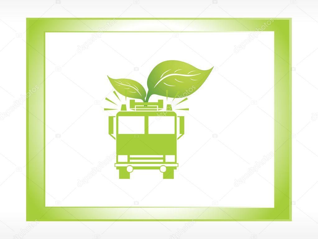 Ecofriendly transportation icons