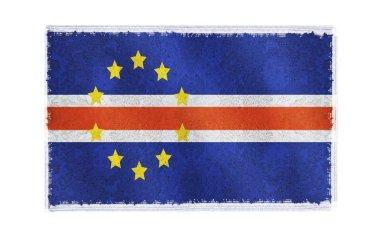 Flag of Cape Verde on background