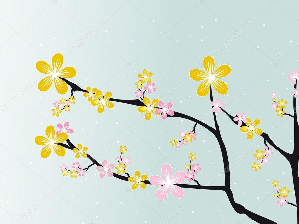 Lovely spring blossom background