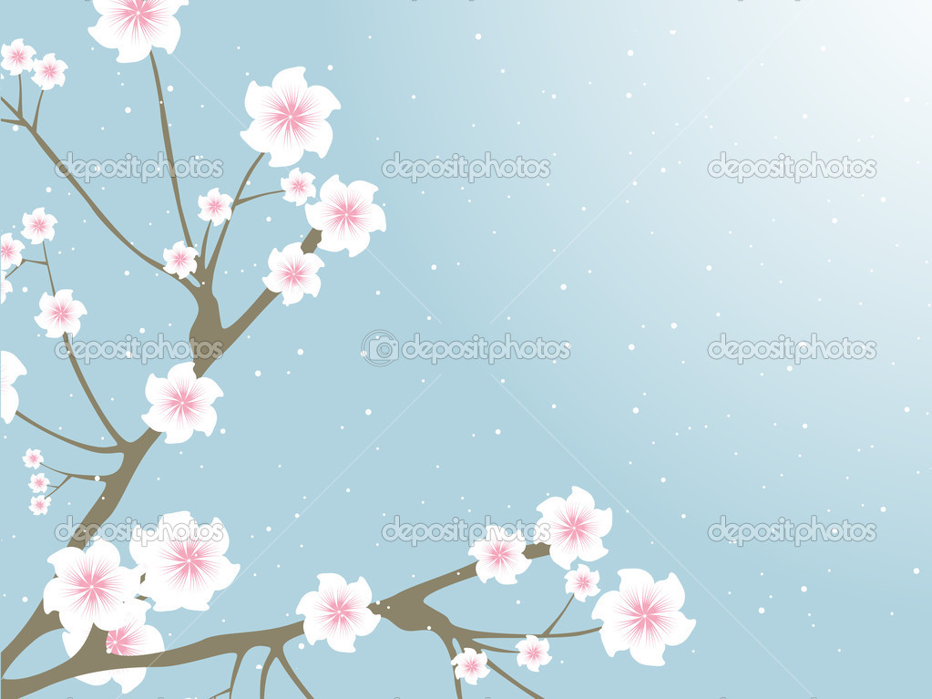 Branches with blossoms and buds