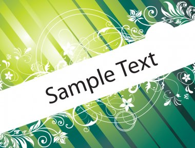 Floral pattern with sample text