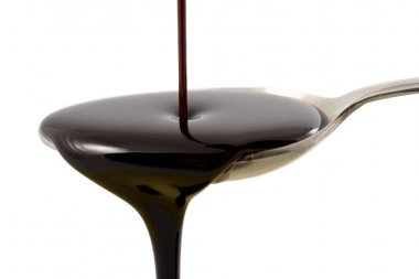 Pouring chocolate syrup