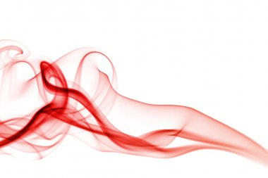 Abstract red smoke woman
