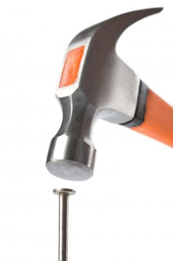 Hammer and nail isolated
