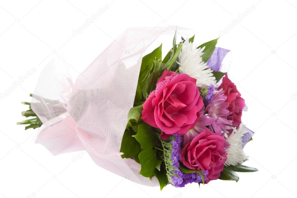 Bouquet of beautiful flowers isolated